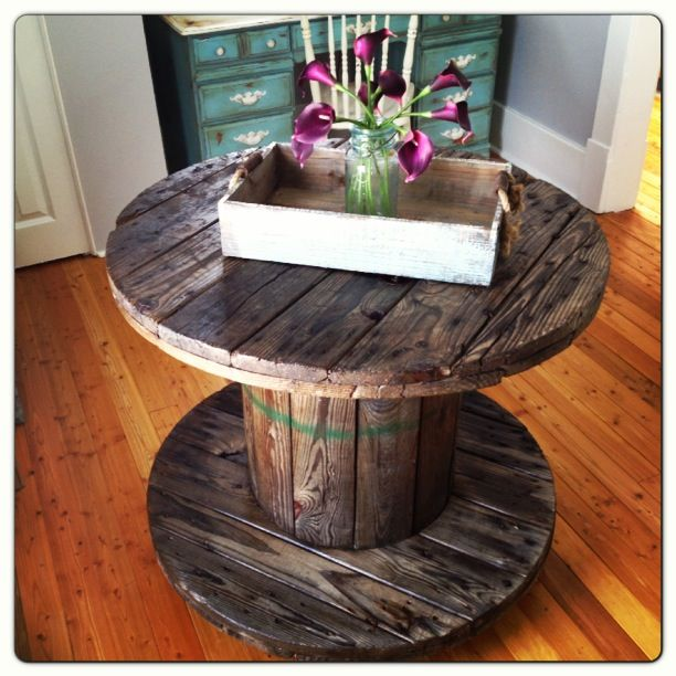 Do It Yourself Home Design: Wire Electrical Spool Table Www.bvintage.ca Industrial