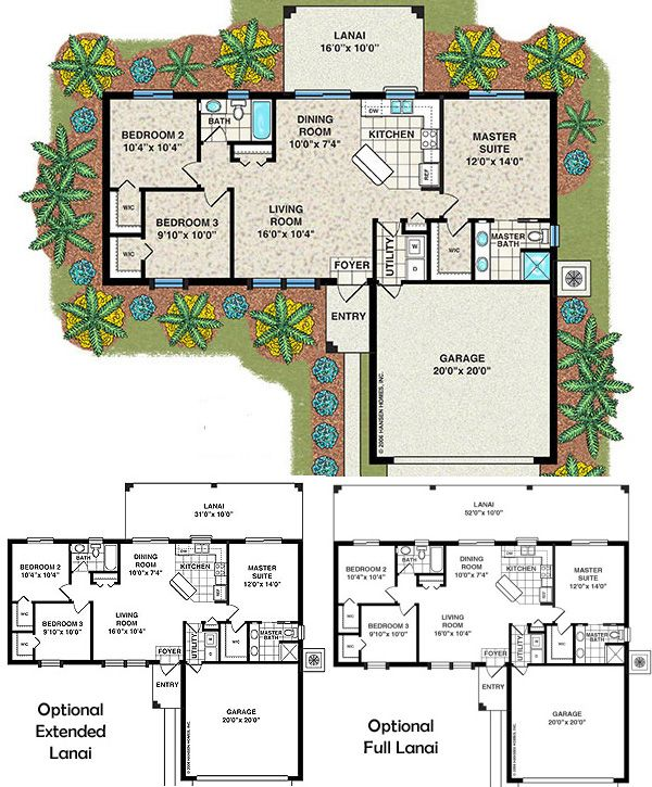 Affordable house plans 3 bedroom bayshore home plan 3 for Affordable garage plans
