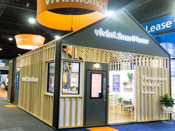 Exhibition Stand Portable : Vivint smart home booth at naa by mackenzie exhibit