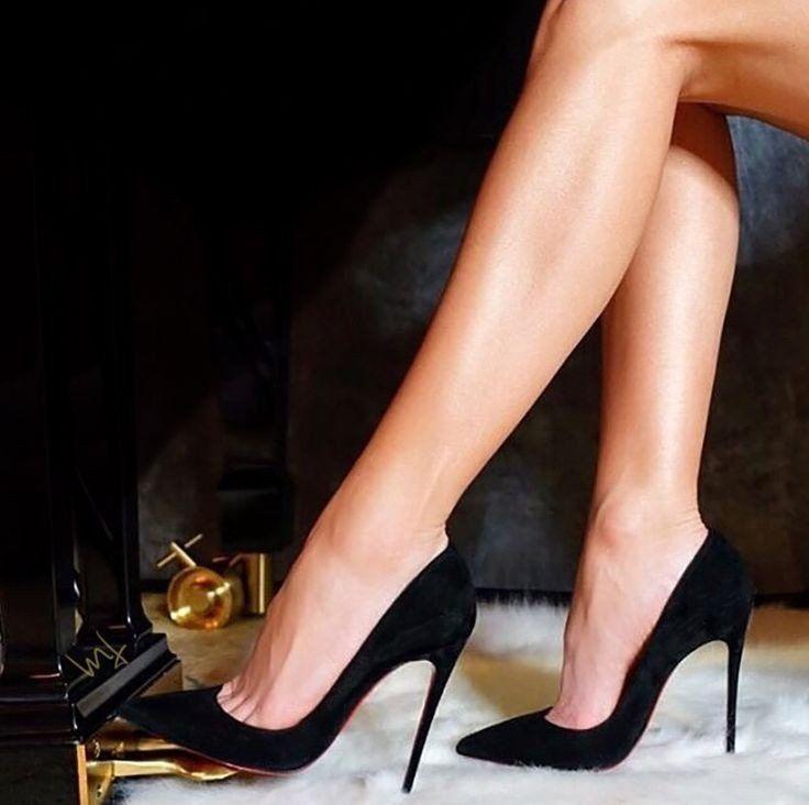 Schwarze Stöckelschuhe Modelle - Attraktive Frauen