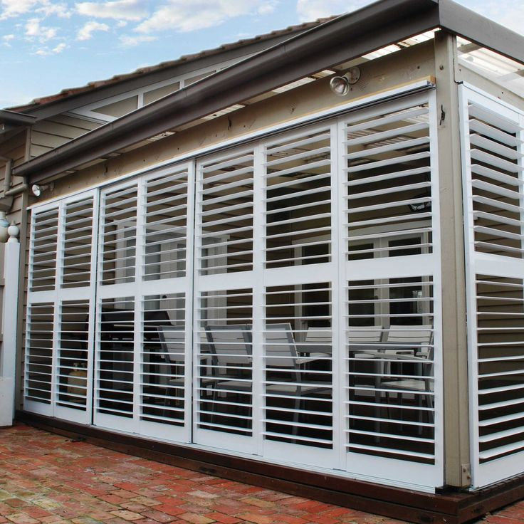 The 141 best ideas about outdoor pergola ideas on pinterest - Plantation shutters kits ...