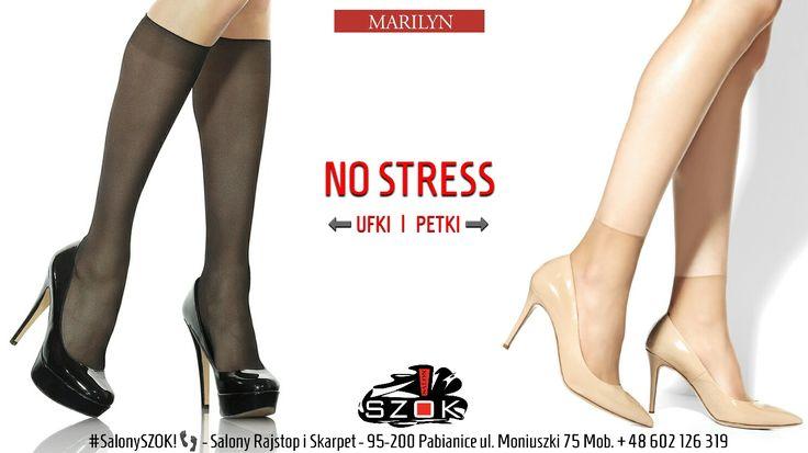 🔴 #Skarpetki #Petki i #podkolanówki #Ufki z serii #NoStress firmy #Marilyn - #elastyczne, #przylegające do #stopy z #nieuciskającą #gumką. #Eleganckie i praktyczne dla każdego.