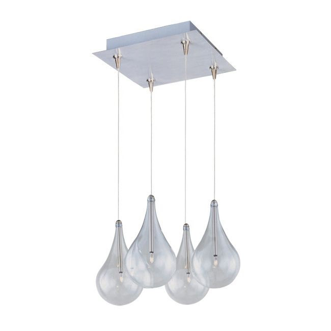 larmes satin nickel multi light pendant with clear shade this larmes rapidjack pendant and canopy by has a satin nickel finish and - Multi Canopy Decor