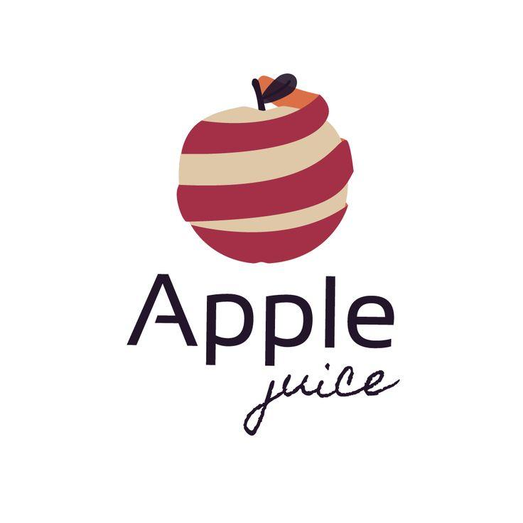 Logo / apple juice / vectorial illustration / Sarah Lehen.