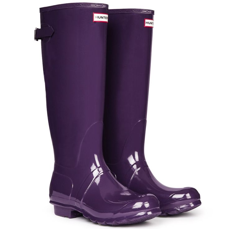 Amazon.com : Hunter Womens Original Tall Gloss Synthetic Boots : Sports & Outdoors