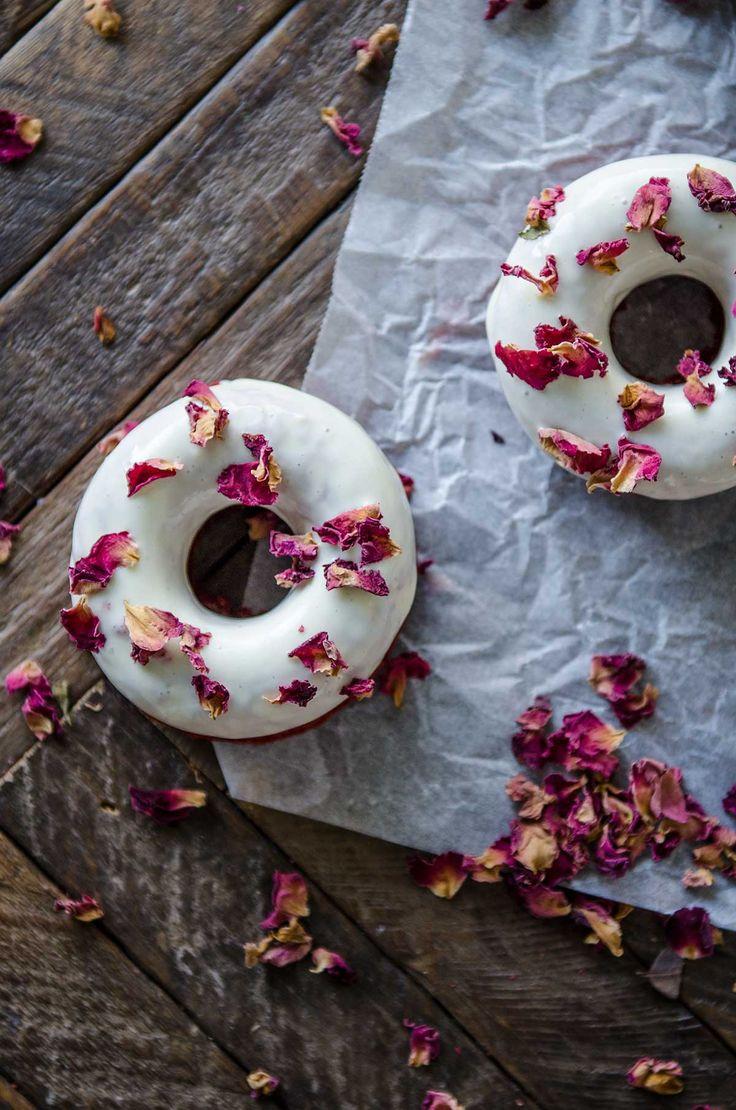 Valentine's Day Red Velvet Doughnuts Chew Town Food Blog