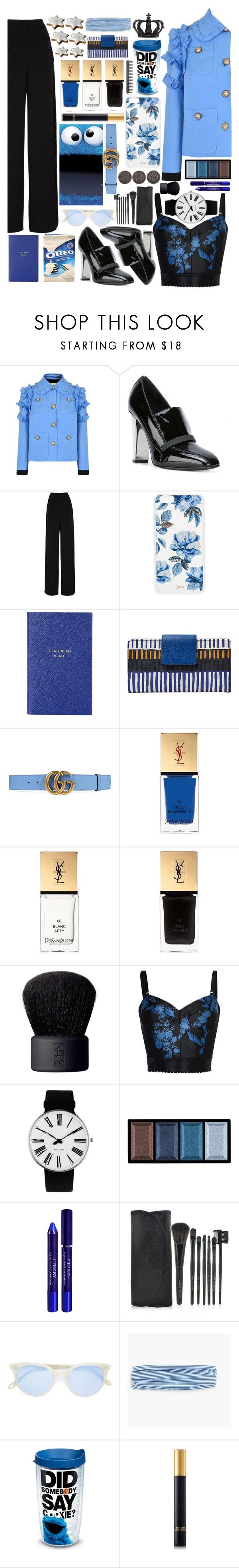 """""""Cookie Monsters Love Fashion too."""" by kleasterling on Polyvore featuring Gucci, Giuseppe Zanotti, Rochas, Sonix, Smythson, FOSSIL, Yves Saint Laurent, NARS Cosmetics, STELLA McCARTNEY and Rosendahl"""