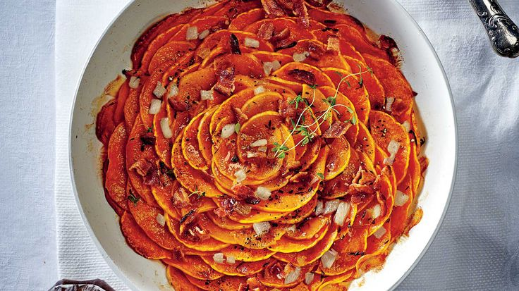 Opinions vary as to which is the best part of this eye-catching Thanksgiving side dish. Is it the tasty, caramelized edges, or the intriguing visual appearance that makes this side dish pretty enough to be a Thanksgiving centerpiece? Or is the best part simply a practical one – the fact that this recipe can be on the table in under an hour? Quick, pretty, and delicious, this easy Butternut squash recipe uses a short ingredient list (you probably already have everything you need) to accent…