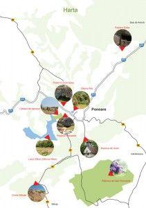 Harta obiectivelor turistice www.circuitponoarele.ro