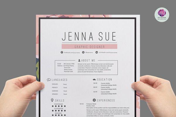Floral resume package