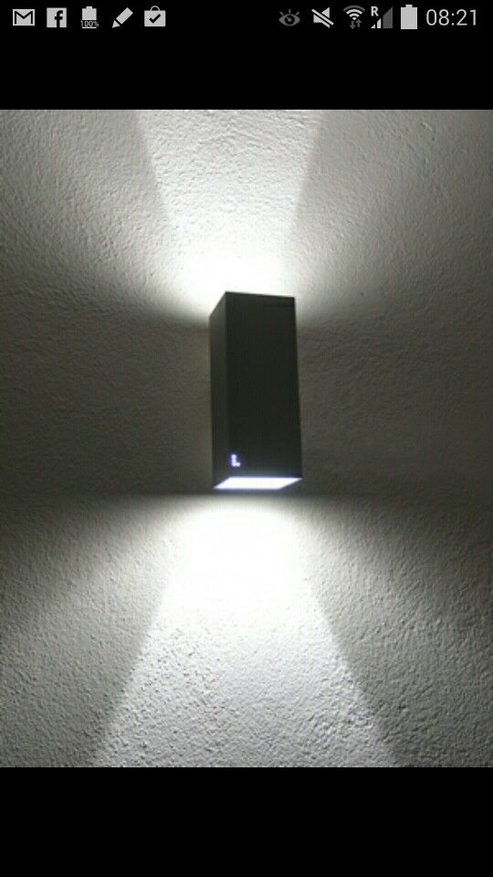 Snygg svart utelampa