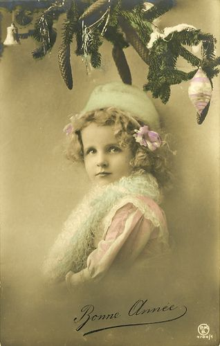 Vintage Postcard ~ Christmas Girl