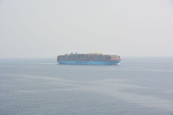 MARSTAL MAERSK, container vessel navigating in red sea on her route to Suez canal
