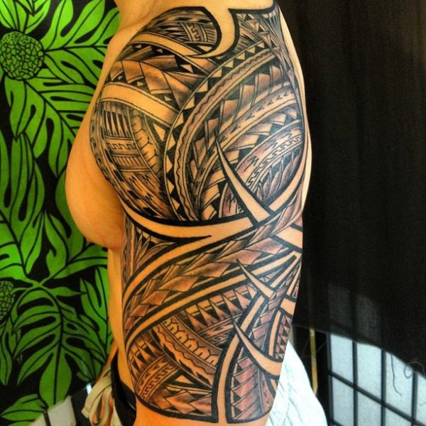 polynesian half sleeve tattoo 05152013 600 600 tattoos pinterest tattoo samoan. Black Bedroom Furniture Sets. Home Design Ideas