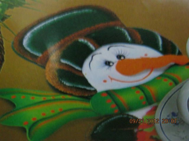 individual navideño muñeco de nieve en foamy