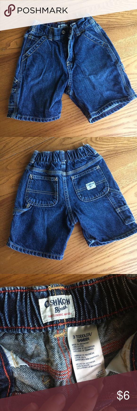 "🚨LAST CHANCE🚨 all kids items to B donated soon OshKosh B'gosh- Carpenter jean shorts- like new condition- 3T - elastic waist band with approx 2"" stretch 🎊15% off bundles 🎊 OshKosh B'gosh Bottoms Shorts"