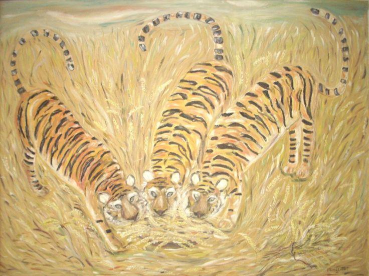 Tres tigres comen trigo en un trigal tallerdeartes.com