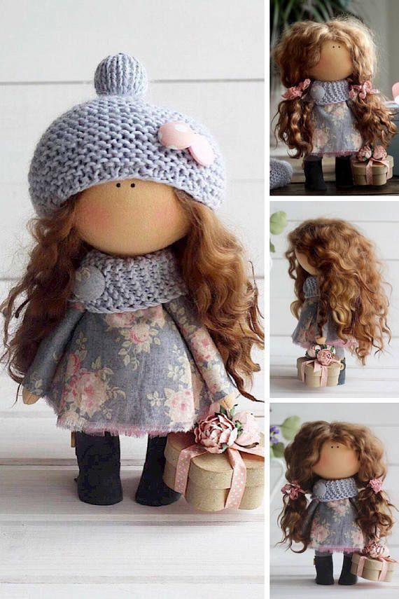 Bambole Interior doll Textile doll Tilda doll by AnnKirillartPlace