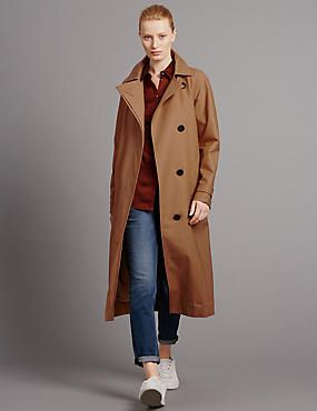 Back Pleat Trench Coat with Stormwear™