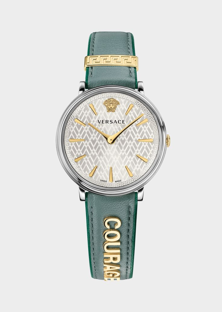 """Versace Teal Manifesto COURAGE Watch for Women 