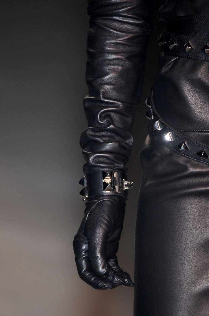 Leather Gloves Fetish 70