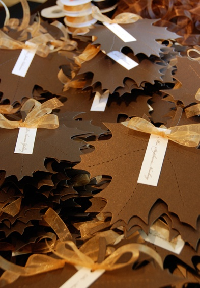 Paper Leaf Place Cards