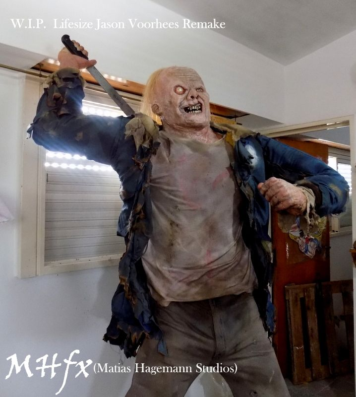 Jason Voorhees, Lifesize statue (2009 remake friday the 13 movie) by Matias Hagemann.   Réplica tamaño real de jason Voorhees (Viernes 13, remake de 2009) por Matias Hagemann