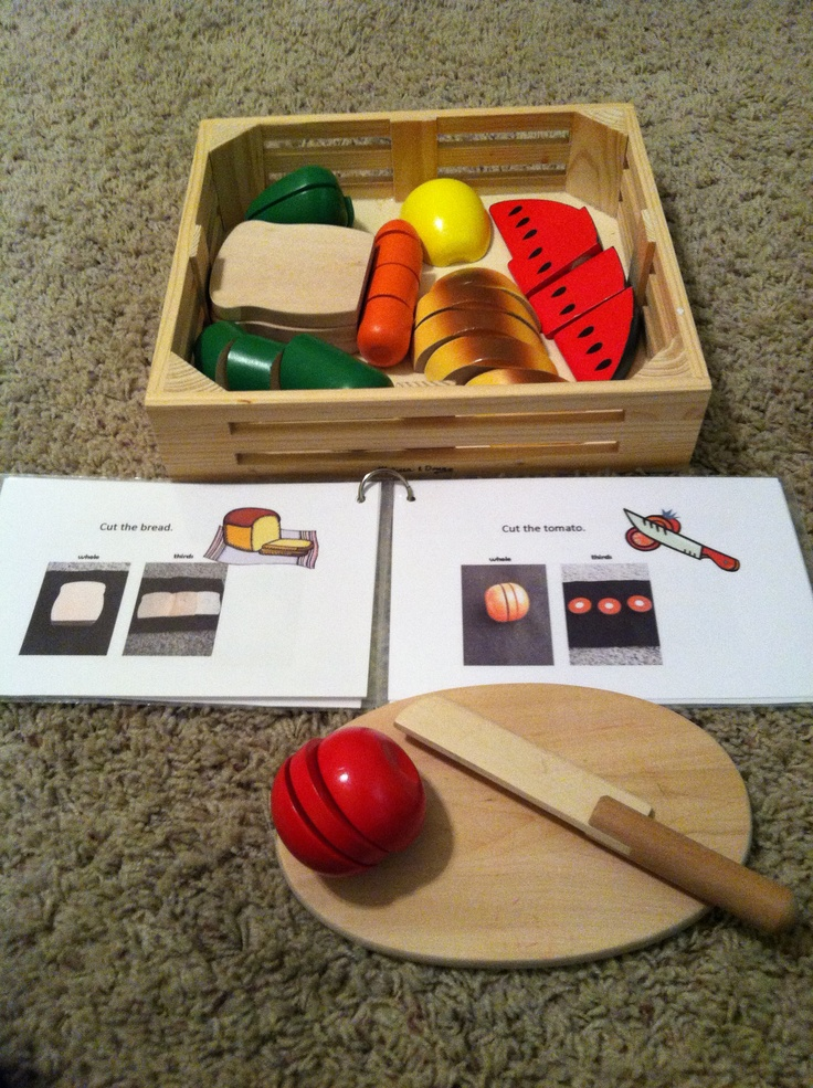 Fractions with food book use the melissa doug cutting