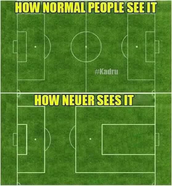 Bramkarz Bayernu Monachium widzi swoje pole karne sięgające za połowę • Jak Manuel Neuer widzi boisko piłkarskie • Wejdź i zobacz >>