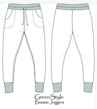 Best Loungewear Sewing Patterns For Tweens | Brassie Joggers by Greenstyle