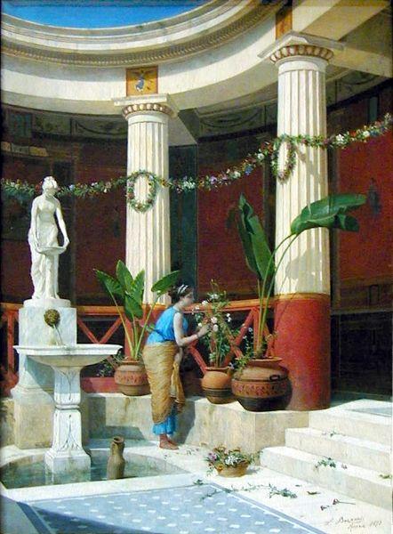 Luigi Bazzani - Pompeiian Interior