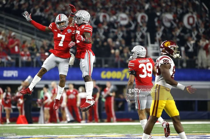 News Photo : Damon Webb and Jerome Baker of the Ohio State...