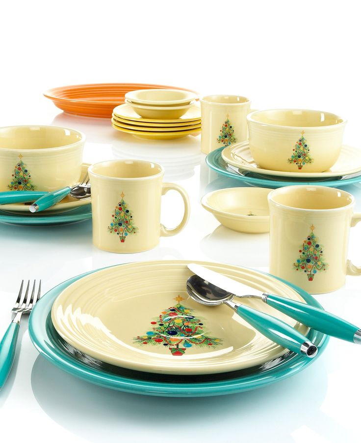 1739 Best Colorful Fiestaware Images On Pinterest Parties Homer  - Fiesta Christmas Tree Dinnerware