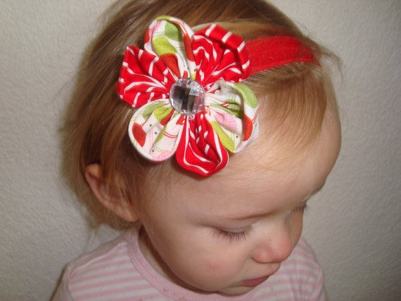 Christmas Headband for babies, toddlers and big girls.