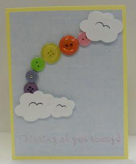 Button Rainbow Card