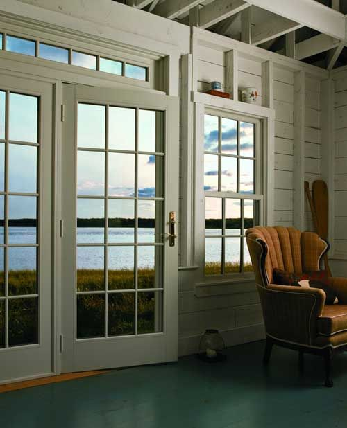 Andersen 400 series frenchwood hinged patio door for Double hung exterior french doors