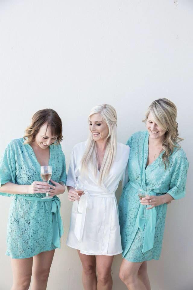 Bride & bridesmaids in Tesi robes https://www.facebook.com/lovetesi