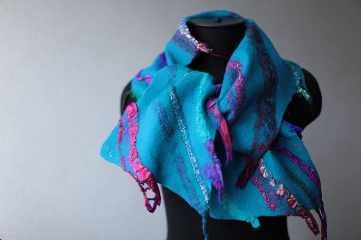 Felted Scarf | merino wool, sari silk | Marina Shkolnik | Flickr
