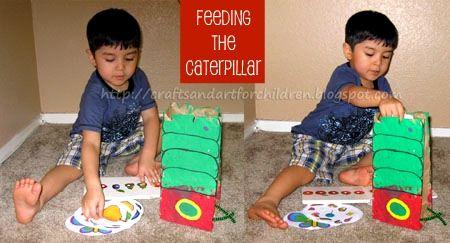 The Very Hungry Caterpillar - Eric Carle Craft Idea