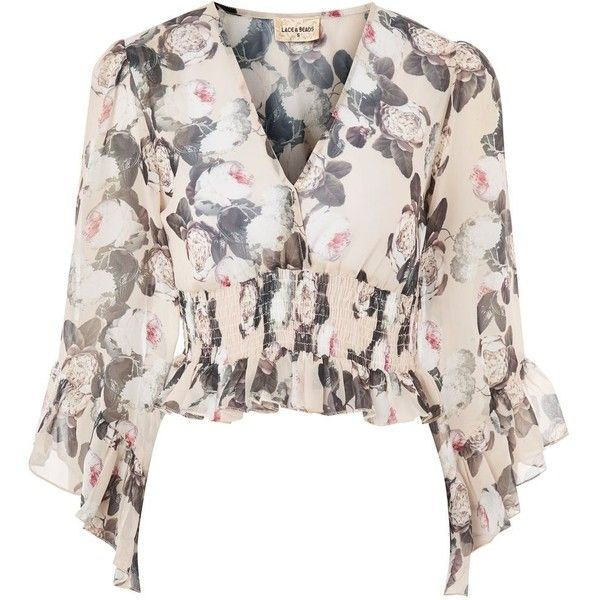 Get into a floaty and ultra-feminine mood for the new season. This floral print top with v-neckline and waterfall ruffle detailing is the perfect go-to top fo…