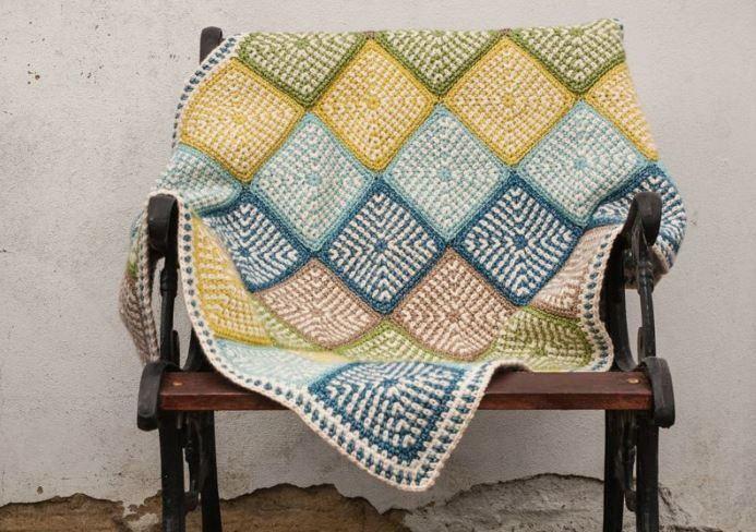 Linen Stitch Manghan Pattern | AllFreeCrochetAfghanPatterns.com