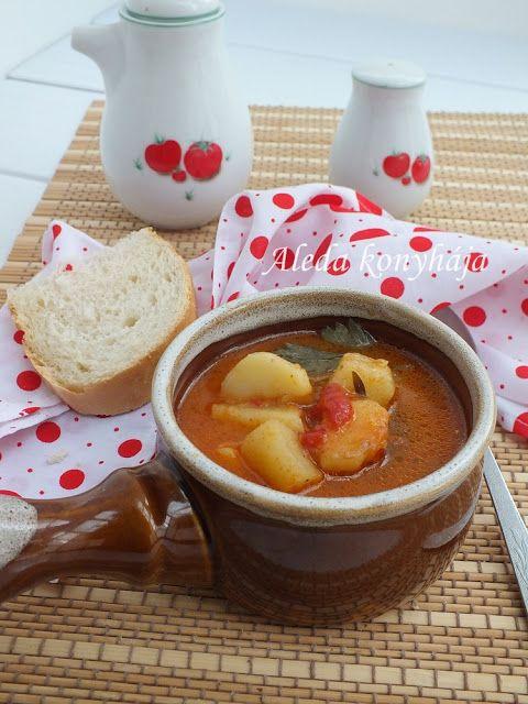 Aleda konyhája: Paradicsomos krumplileves