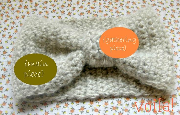 make it dear: diy::easy crochet headband