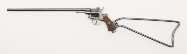 Lefaucheux Mle1854 revolving carbine Manufactured in Liège c.1850~60′s - serial number 27.