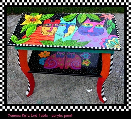 Painted Furniture craftartist: Hand Painted Furniture, Painted Cats, Painted Tables, Color, Furniture Idea, Furniture Paintedfurniture, Indulgy With