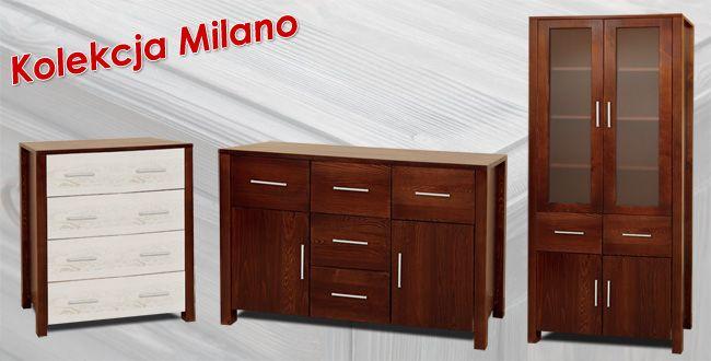 Kolekcja Milano - meble drewniane. Producent Made of Wood Group.