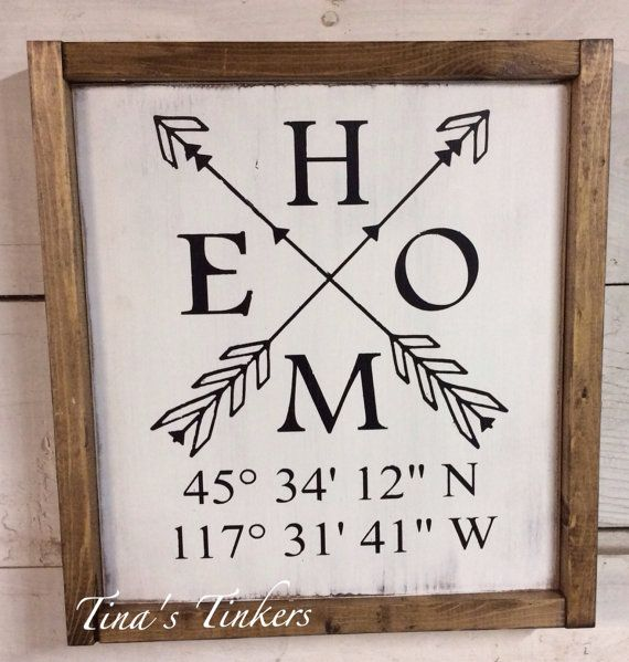 Home sign with coordinates. Longitude and latitude. Custom coordinates. Home coordinates. Personalize. Coordinates sign. Housewarming gift