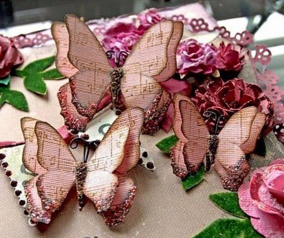 Mariposas de papel vintage                                                                                                                                                      Más