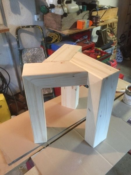 Wooden stool a small design by tedey