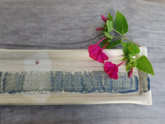 Ceramic tray ooak rectangular plate serving dish by toscAnna